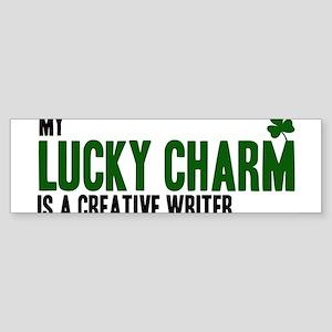 Creative Writer lucky charm Bumper Sticker