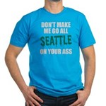 Seattle Baseball Men's Fitted T-Shirt (dark)