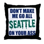 Seattle Baseball Throw Pillow