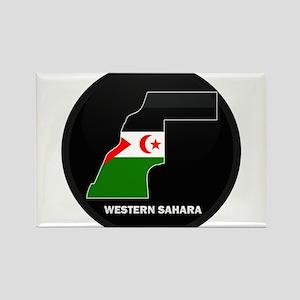 Flag Map of Western Sahara Rectangle Magnet