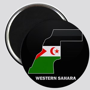 Flag Map of Western Sahara Magnet