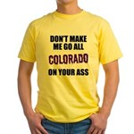 Colorado Baseball Yellow T-Shirt
