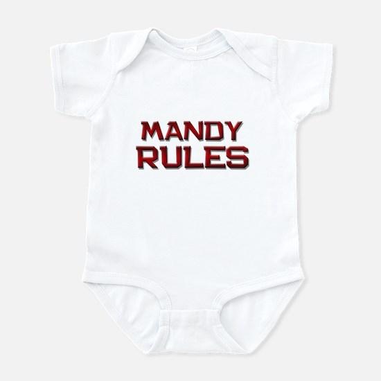 mandy rules Infant Bodysuit