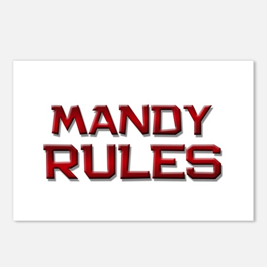mandy rules Postcards (Package of 8)