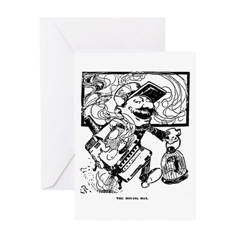 The Moving Man Greeting Card