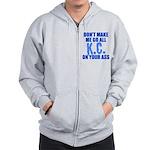 Kansas City Baseball Zip Hoodie