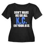 Kansas City Baseball Women's Plus Size Scoop Neck