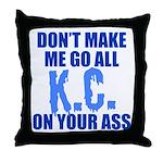Kansas City Baseball Throw Pillow