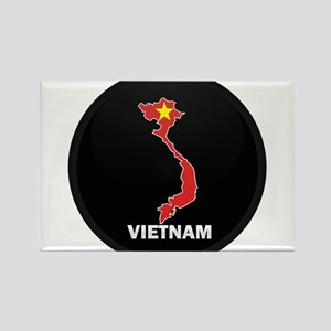 Flag Map of Vietnam Rectangle Magnet