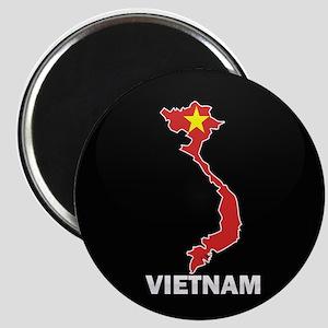Flag Map of Vietnam Magnet