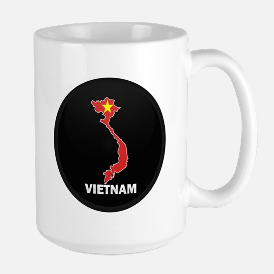 Flag Map of Vietnam Large Mug