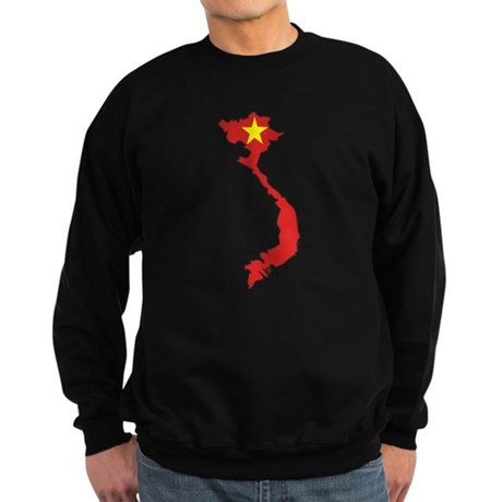Vietnam Flag Map Sweatshirt (dark)