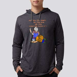 Candy or the Pumpkin Mens Hooded Shirt