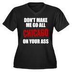 Chicago Baseball Women's Plus Size V-Neck Dark T-S