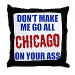 Chicago Baseball Throw Pillow