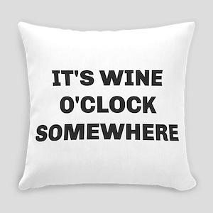 Wine O'Clock Everyday Pillow