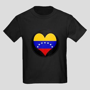 I love Venezuela Flag Kids Dark T-Shirt