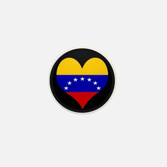 I love Venezuela Flag Mini Button