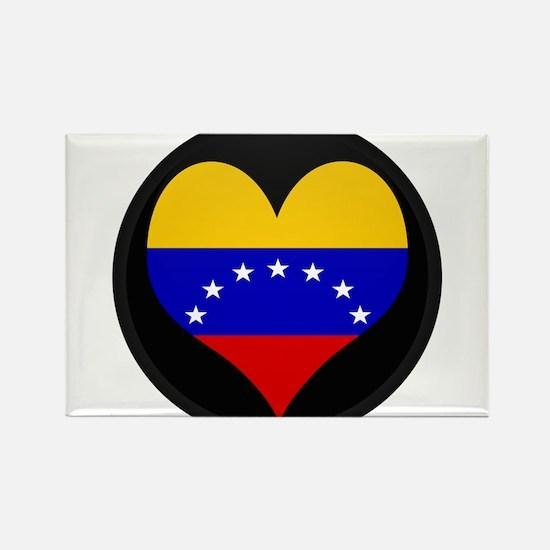 I love Venezuela Flag Rectangle Magnet