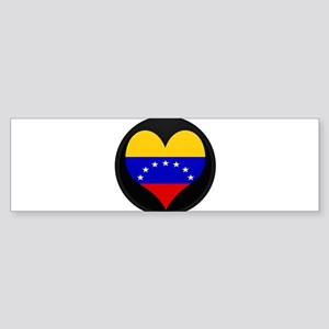 I love Venezuela Flag Bumper Sticker
