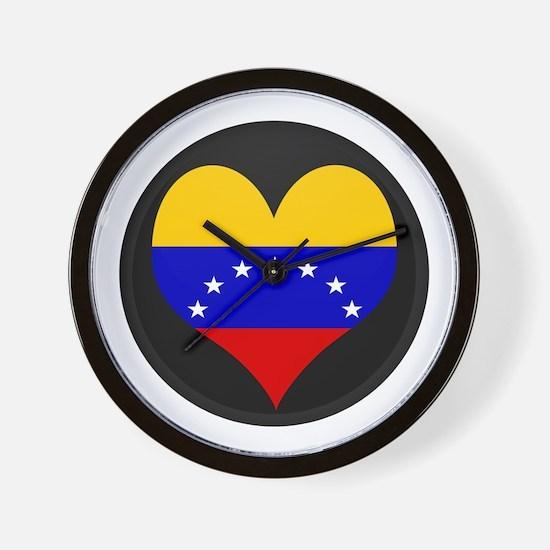 I love Venezuela Flag Wall Clock