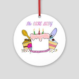 cake lady Round Ornament