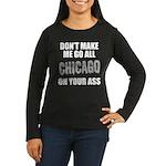 Chicago Baseball Women's Long Sleeve Dark T-Shirt