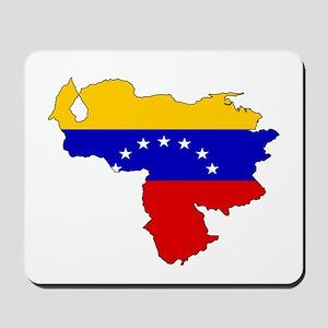 Venezuela Flag Map Mousepad