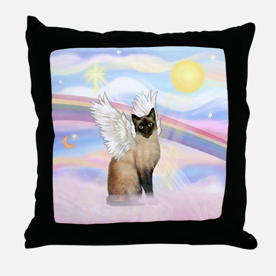 Clouds / Siamese Throw Pillow