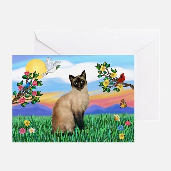 Bright Life / Siamese Greeting Card