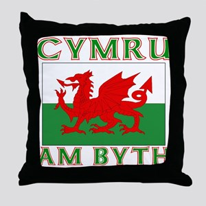 Wales for Ever Throw Pillow