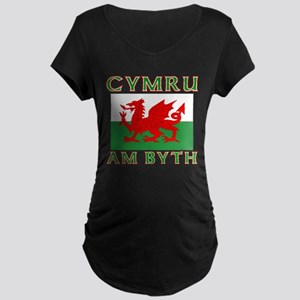 Wales for Ever Maternity Dark T-Shirt