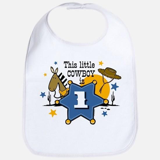 Little Cowboy 1st Birthday Bib