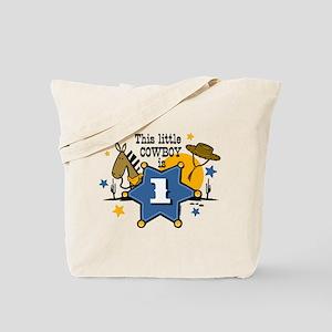 Little Cowboy 1st Birthday Tote Bag