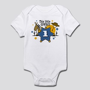 Little Cowboy 1st Birthday Infant Bodysuit