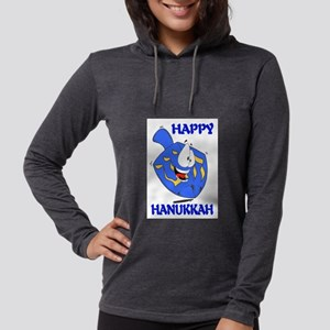 HAPPY HANUKKAH Womens Hooded Shirt