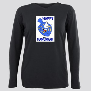 HAPPY HANUKKAH Plus Size Long Sleeve Tee