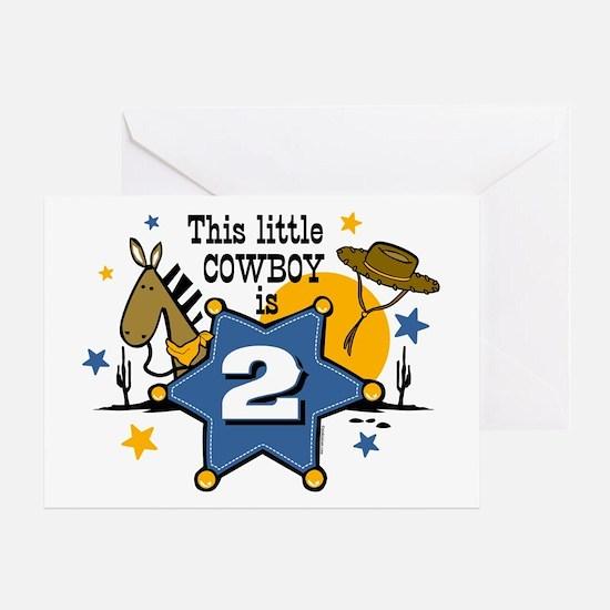 Little Cowboy 2nd Birthday Greeting Card