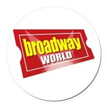 BroadwayWorld 2017 Logo Round Car Magnet