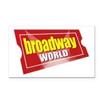 BroadwayWorld 2017 Logo Rectangle Car Magnet