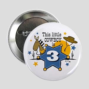 "Little Cowboy 3rd Birthday 2.25"" Button"