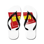 BroadwayWorld 2017 Logo Flip Flops