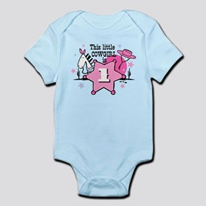 Little Cowgirl 1st Birthday Infant Bodysuit