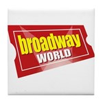 BroadwayWorld 2017 Logo Tile Coaster