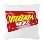 BroadwayWorld 2017 Logo Woven Throw Pillow