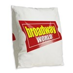 BroadwayWorld 2017 Logo Burlap Throw Pillow
