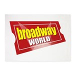 BroadwayWorld 2017 Logo 5'x7'Area Rug