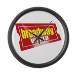 BroadwayWorld 2017 Logo Large Wall Clock