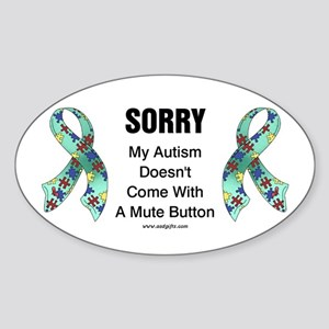 Autism Sorry Oval Sticker