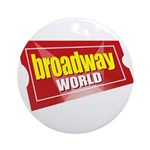 BroadwayWorld 2017 Logo Round Ornament